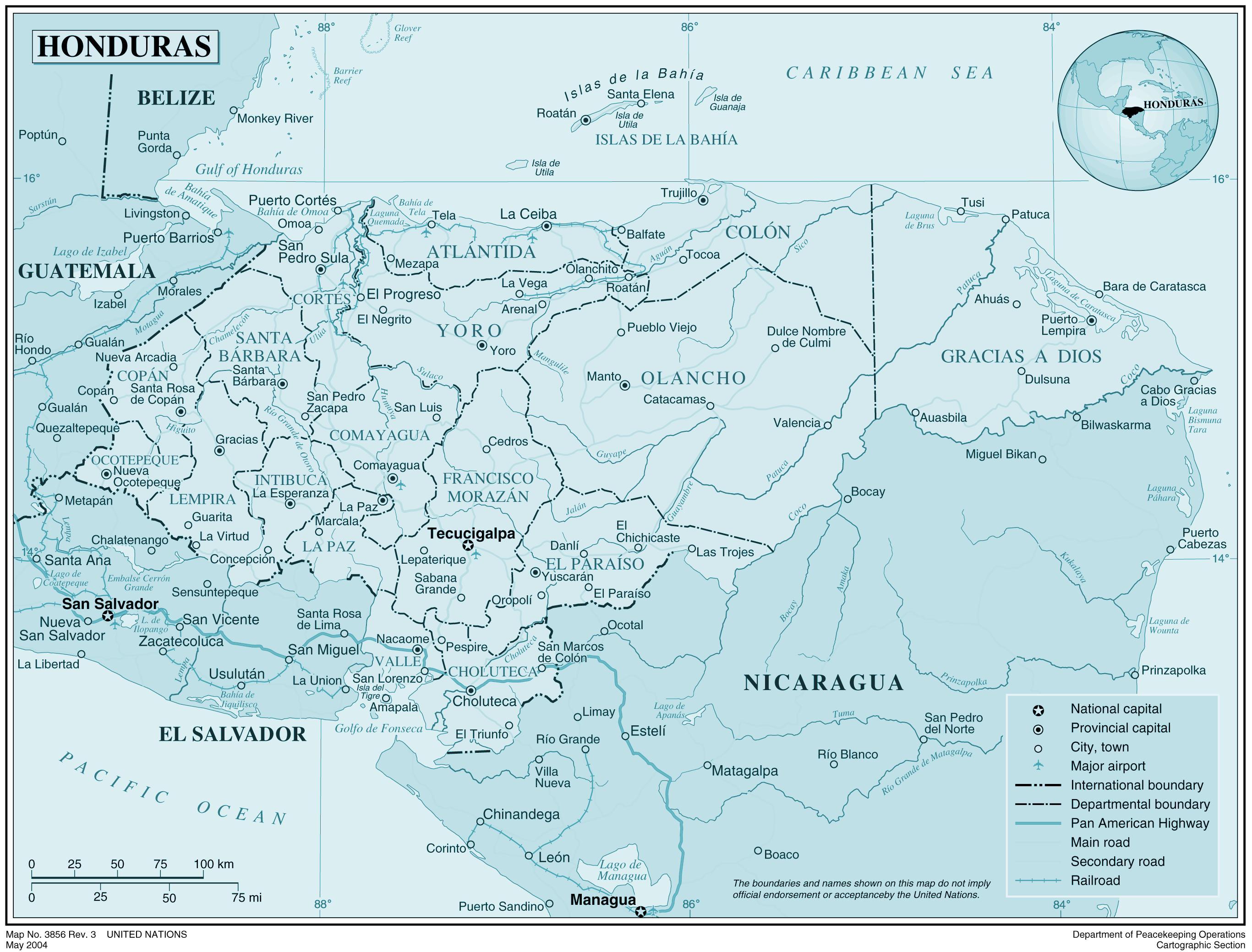 Redigerbar Karta Sverige.Centralamerika Karta